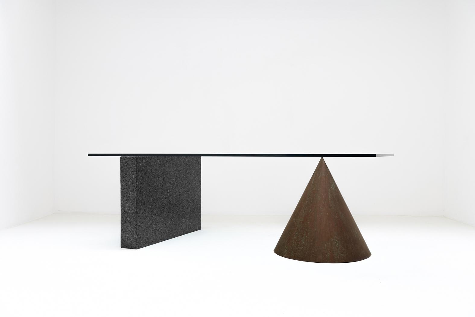 1985 Kono table by Massimo & Lella Vignelli for Casigliani