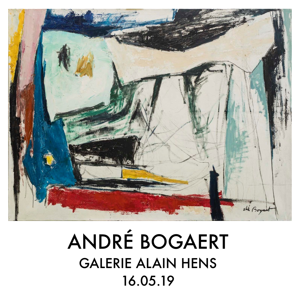 andré bogaert - abstract modernism - uitnodiging galerie alain hens
