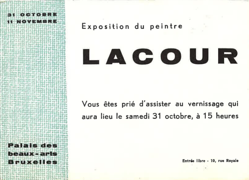 simone lacour - avant-garde art - belgian art - abstract modernism