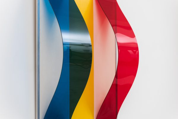 Untitled, Oil on panel and plexiglas, 1966 Bob Bonies Dutch artist (Donald Judd, Ellsworth Kelly, Ad Dekkers) 20th C abstract art by gallery Alain Hens, Kloosterstraat Antwerp, Belgium